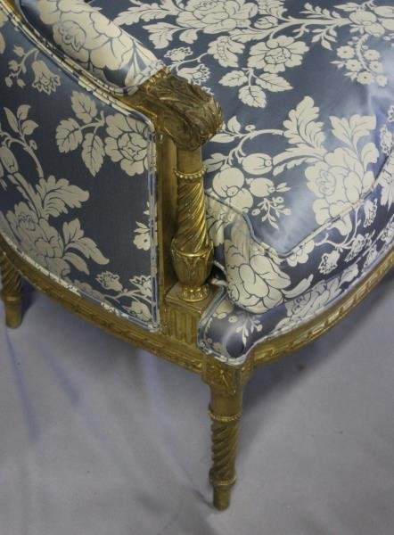 Finely Carved Louis XV1 Bergere & A Paint - 5