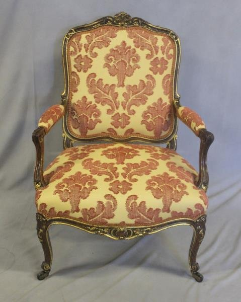 Finely Carved Louis XV1 Bergere & A Paint - 6