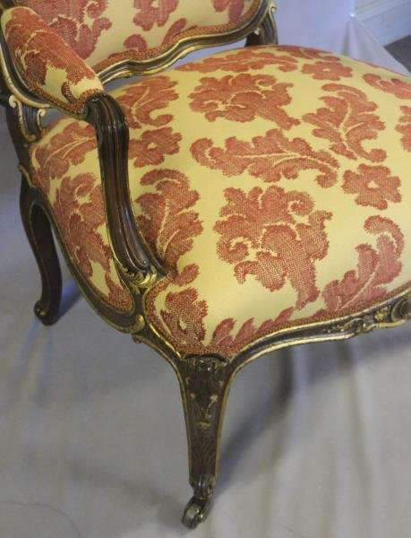 Finely Carved Louis XV1 Bergere & A Paint - 8