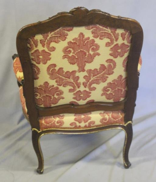 Finely Carved Louis XV1 Bergere & A Paint - 9