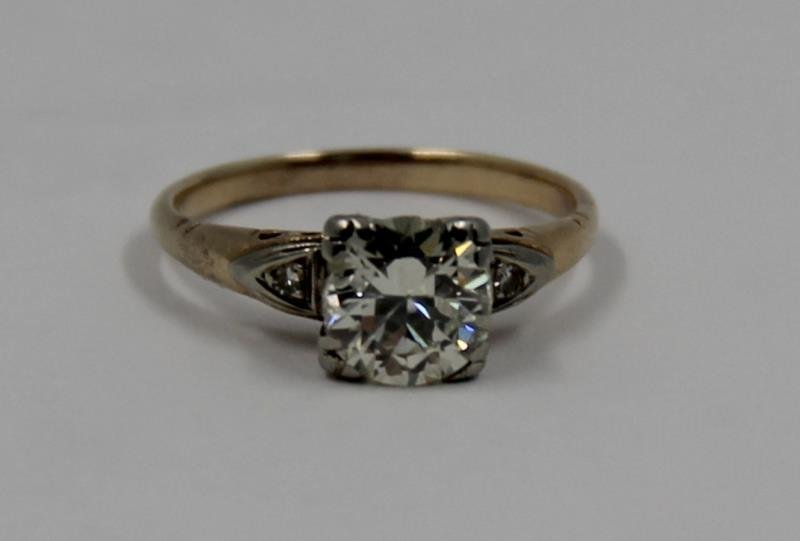 JEWELRY. 14kt Gold and 1+ct Diamond Engagement - 2