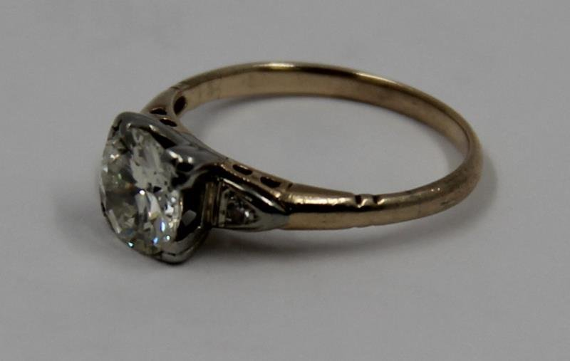 JEWELRY. 14kt Gold and 1+ct Diamond Engagement - 3