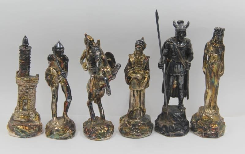 STERLING. Sam Philipe Figural Chess Service. - 2