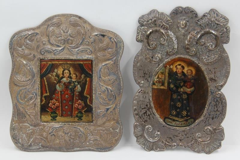 SILVER. Grouping of Russian Icons. - 2
