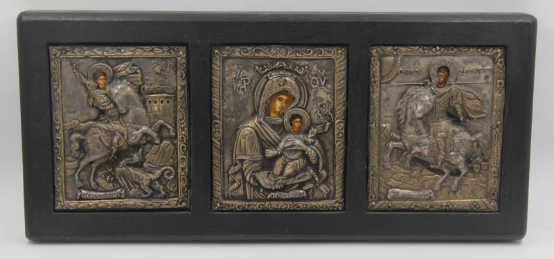 SILVER. Grouping of Russian Icons. - 5