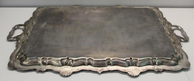 SILVER. Antique English Silver Elkington & Co Tray - 5