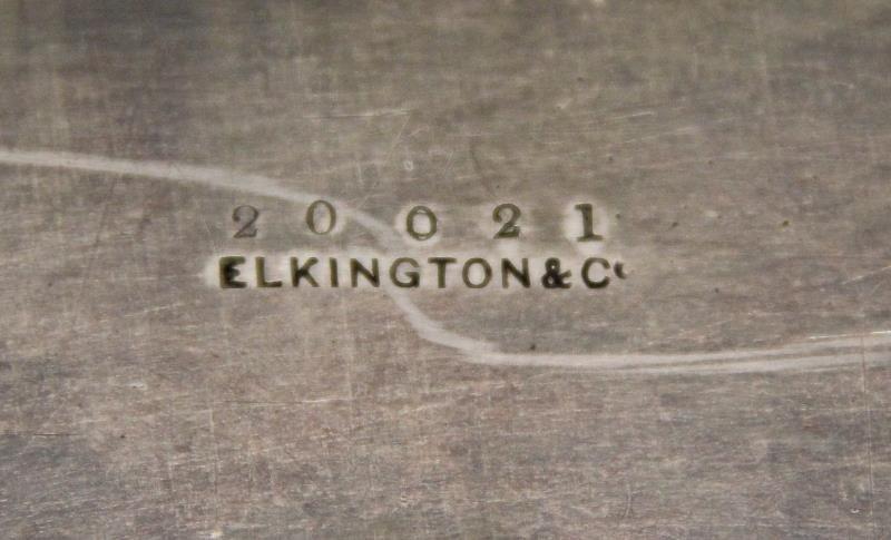 SILVER. Antique English Silver Elkington & Co Tray - 6