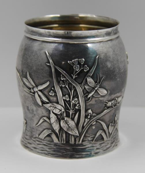 STERLING. Tiffany & Co. Sterling Vase Bug Motif.