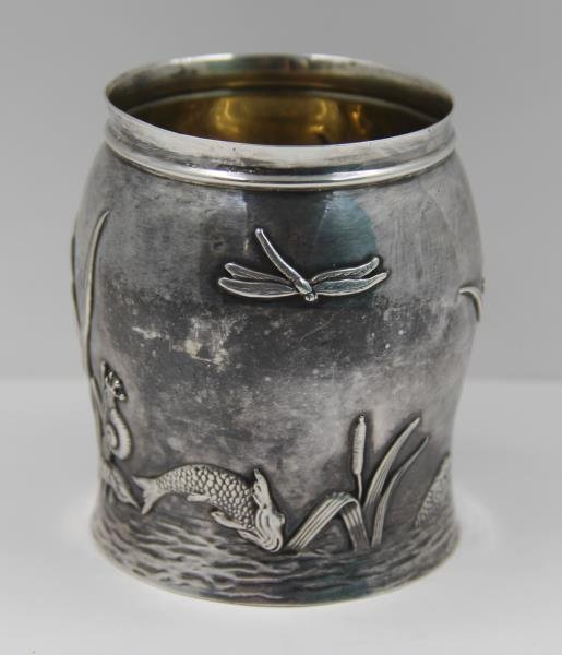 STERLING. Tiffany & Co. Sterling Vase Bug Motif. - 3