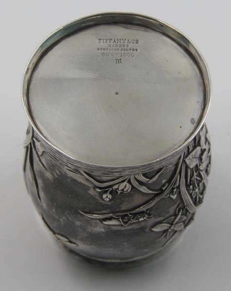 STERLING. Tiffany & Co. Sterling Vase Bug Motif. - 5