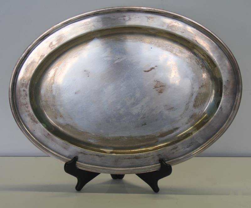 STERLING. Tiffany & Co. Oval Serving Tray.