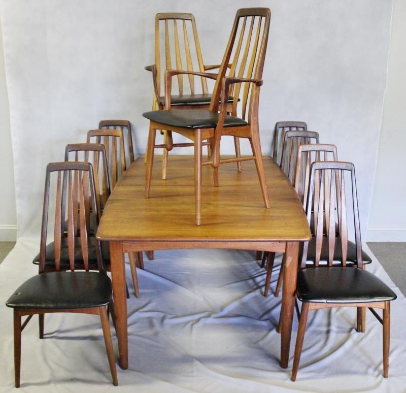 Danish Dining Set with Set of 10 Niels Koefoed
