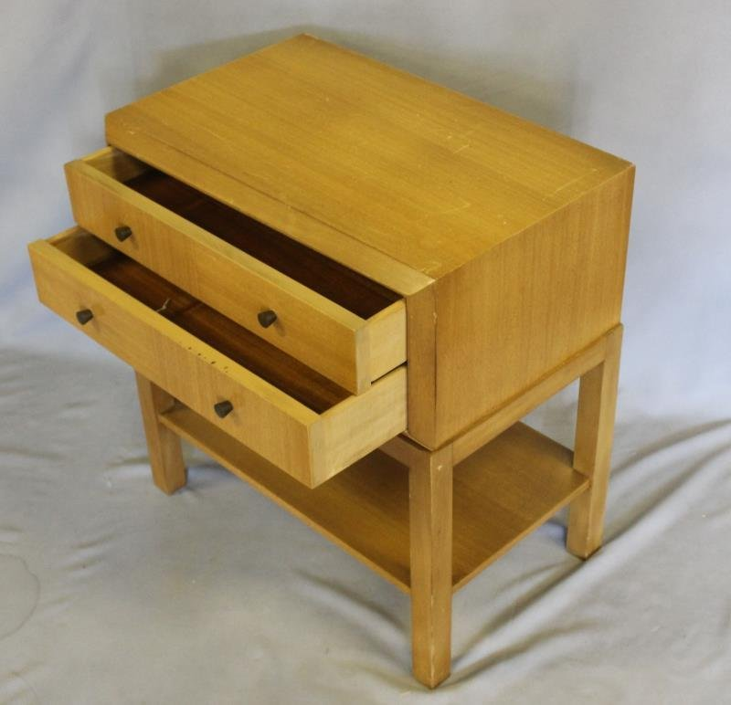 Midcentury Pair of Two Drawer End Tables. - 3