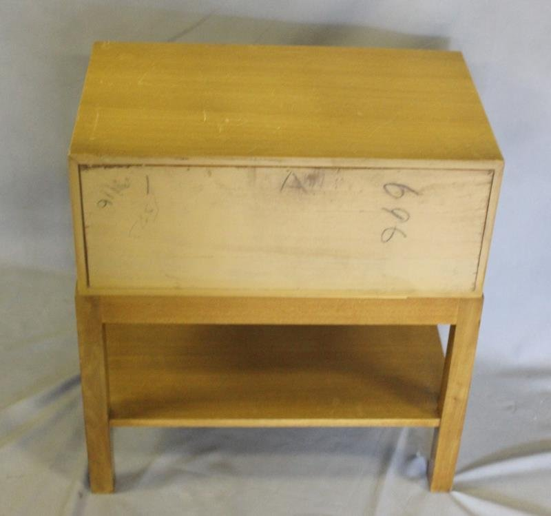 Midcentury Pair of Two Drawer End Tables. - 4