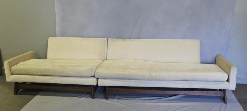 Midcentury Adrian Pearsall Two Piece Sofa.