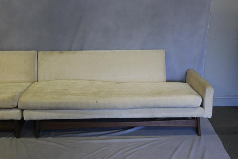 Midcentury Adrian Pearsall Two Piece Sofa. - 2