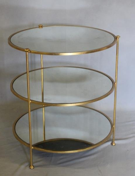 Midcentury Style Mirror Top Occasional Table - 2