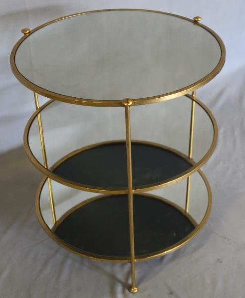 Midcentury Style Mirror Top Occasional Table - 3