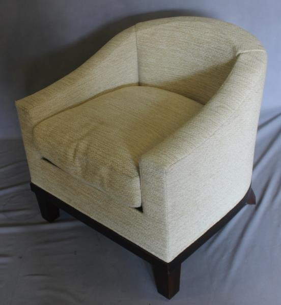 Pair Of Midcentury Style Upholstered Club Chairs . - 2