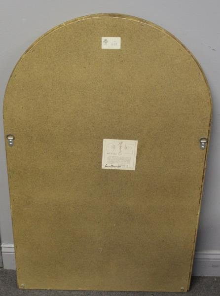 Gilt Midcentury Arch Top Mirror Signed - 6