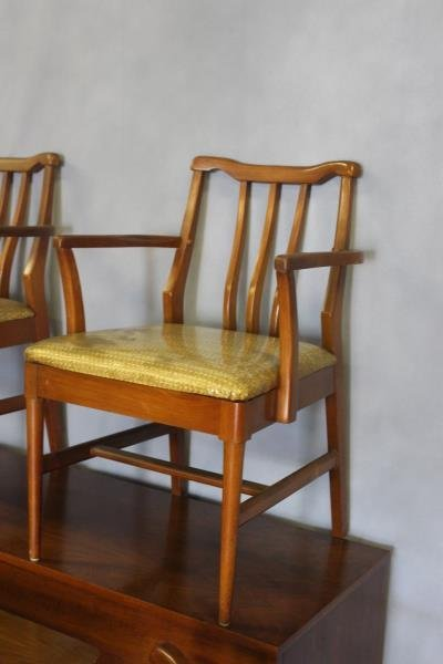 Midcentury Dining Set with 6 Chairs and Sideboard. - 2