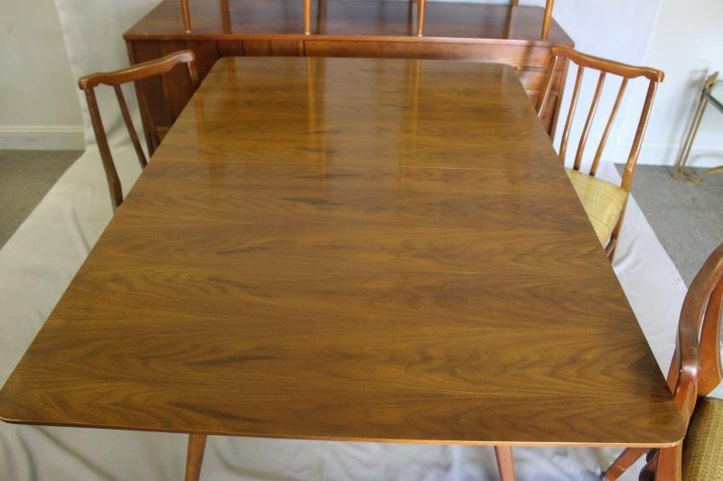 Midcentury Dining Set with 6 Chairs and Sideboard. - 3