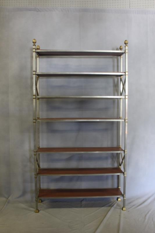 Midcentury Maison Jansen Style Steel & Brass - 2