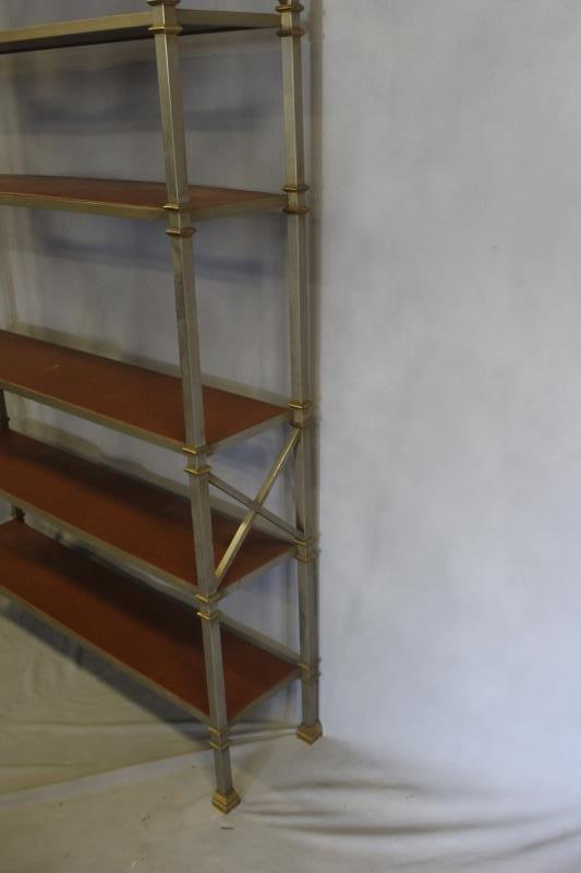 Midcentury Maison Jansen Style Steel & Brass - 3