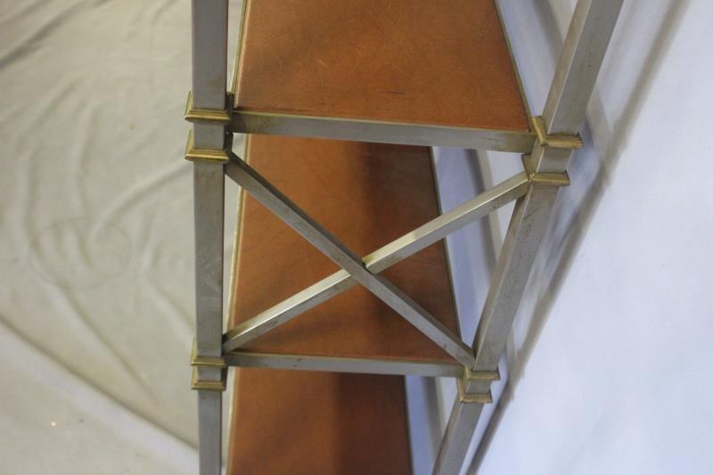 Midcentury Maison Jansen Style Steel & Brass - 4