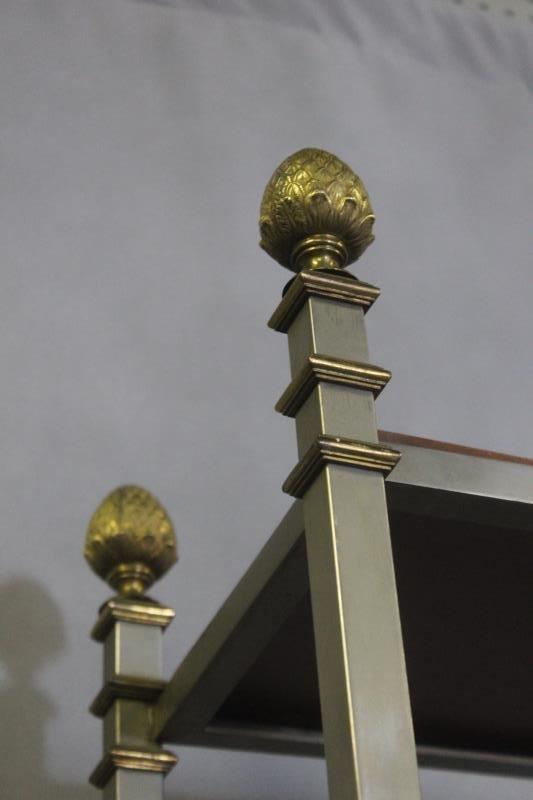 Midcentury Maison Jansen Style Steel & Brass - 5