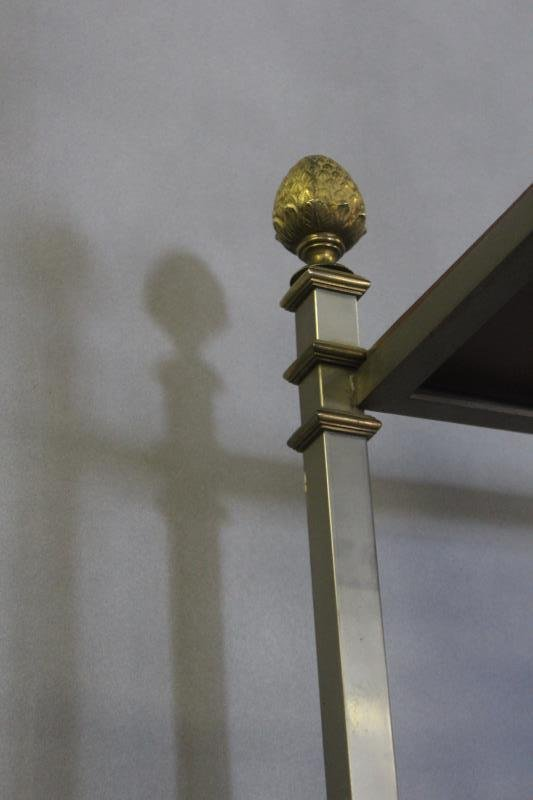 Midcentury Maison Jansen Style Steel & Brass - 6