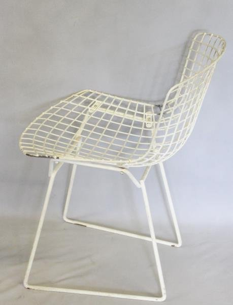 Midcentury Set of 6 Bertoia for Knoll Wire Chairs. - 3