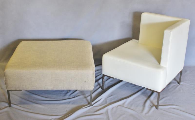 Post-Modern Furniture Lot Including Corner Chair