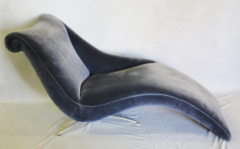 Midcentury Vladimir Kagan Style Chaise.