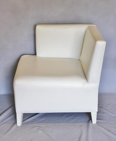 Contemporary White Upholstered Furniture Lot. - 2