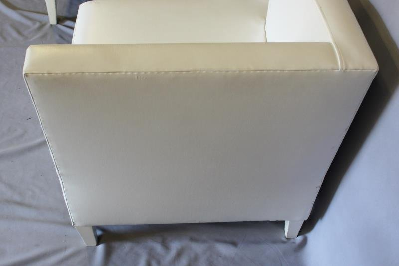 Contemporary White Upholstered Furniture Lot. - 3