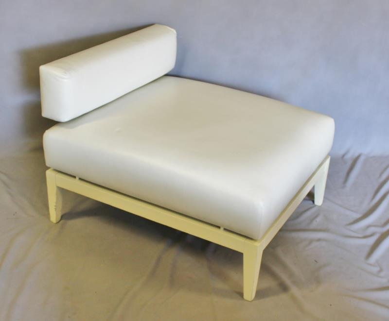 Contemporary White Upholstered Furniture Lot. - 4