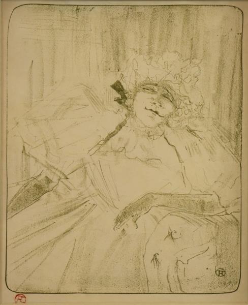 """TOULOUSE LAUTREC, Henri de. Lithograph """"Yvette"""