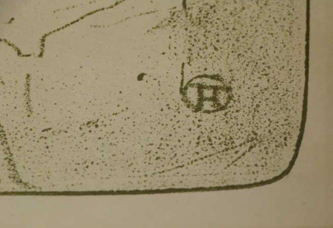 """TOULOUSE LAUTREC, Henri de. Lithograph """"Yvette - 3"""