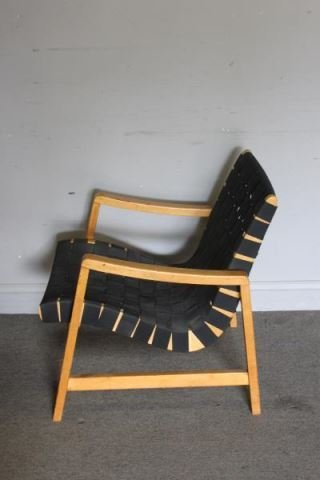 Pair of Jens Risom / Knoll Strap Easy Chairs. - 2