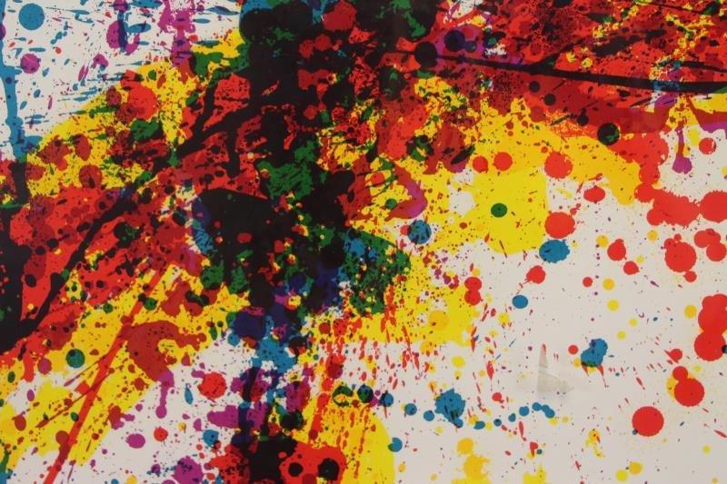 """FRANCIS, Sam. Color Silkscreen """"Toward - 3"""