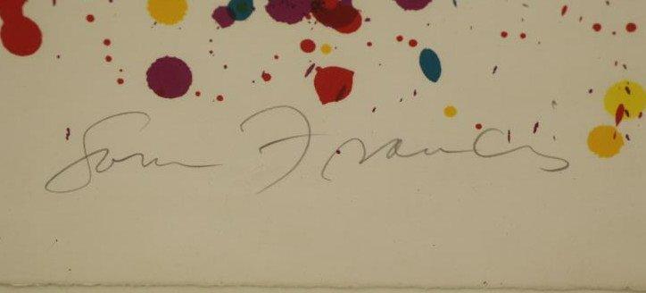 """FRANCIS, Sam. Color Silkscreen """"Toward - 4"""