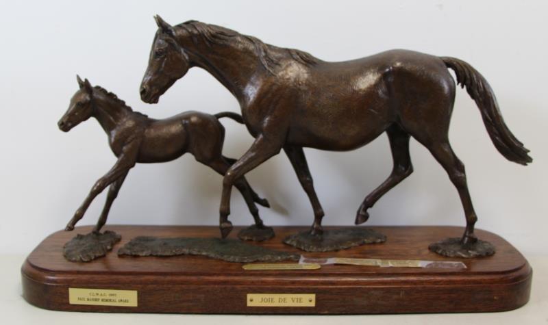"""NEWMARK, Marilyn. Bronze Sculpture """"Joie De Vie""""."""