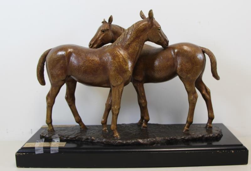 "NEWMARK, Marilyn. Bronze Sculpture ""Pasture Pals"". - 10"