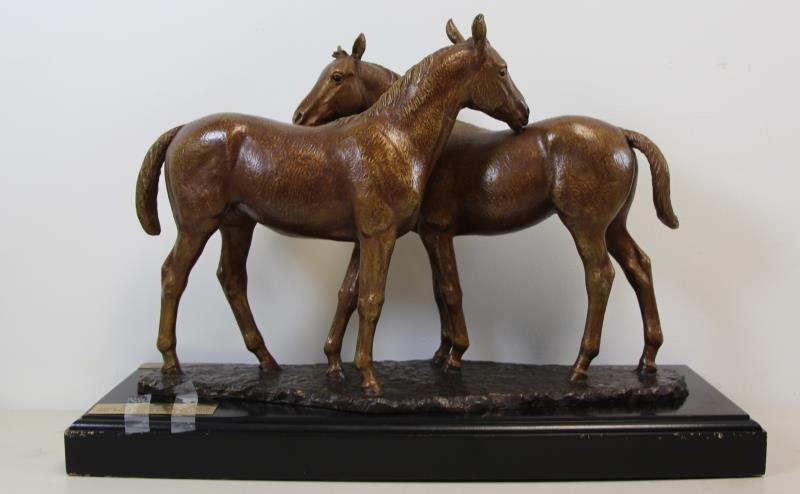 "NEWMARK, Marilyn. Bronze Sculpture ""Pasture Pals"". - 3"