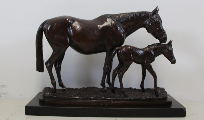 "NEWMARK, Marilyn. Bronze Sculpture ""Great"