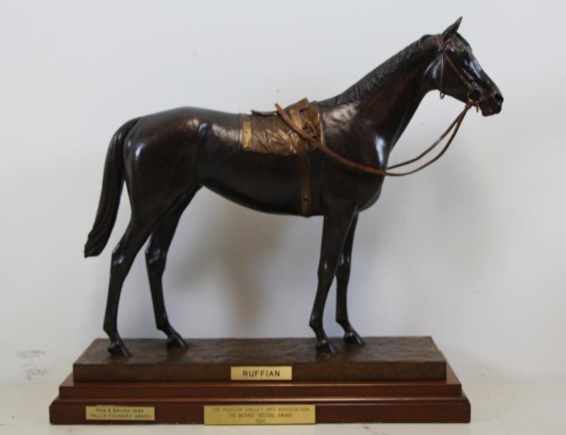 """NEWMARK, Marilyn. Bronze Sculpture """"RUFFIAN""""."""