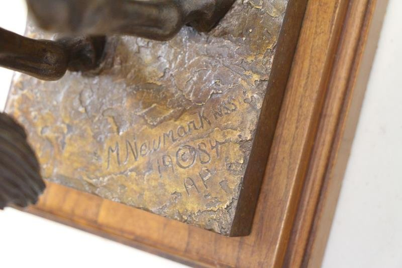 "NEWMARK, Marilyn. Bronze Sculpture ""Genuine Risk"". - 4"