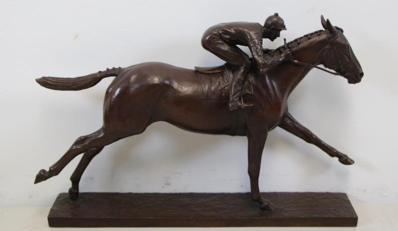 """NEWMARK, Marilyn. Bronze Sculpture """"Man O War""""."""