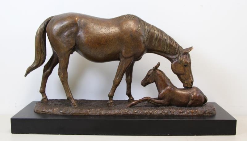 "NEWMARK, Marilyn Bronze Sculpture, ""Wake Up Call"""